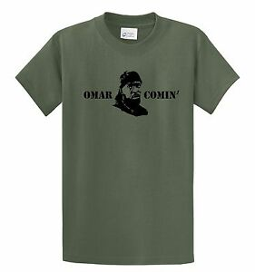 Omar Comin\' Omar Little Logo The Wire T-Shirt Gangster Custom ...