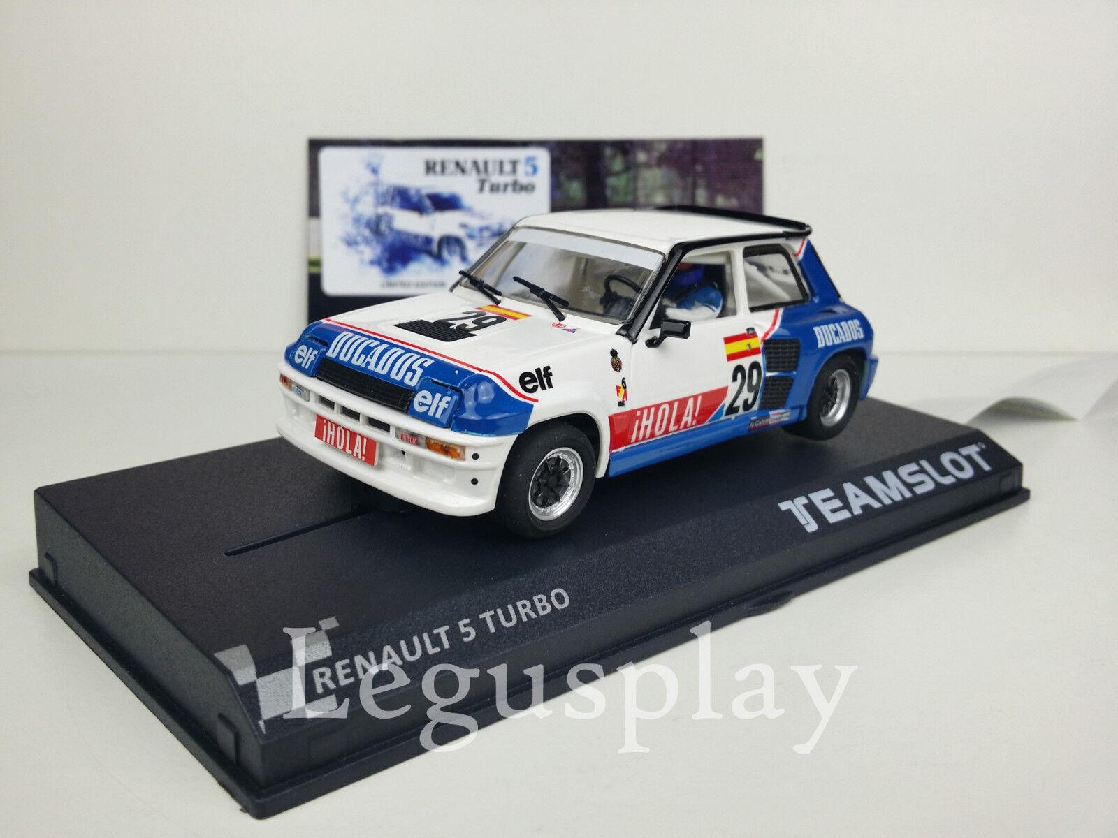 SMasse Scx Scalextric Team SMasse SRE18 Renault 5 Turbo'' Eurocup 1984   nº 29