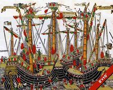 NAVAL BATTLE OF ZONCHIO PAINTING OTTOMAN VENITIAN WAR ART REAL CANVASPRINT