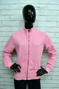Felpa-Donna-CHAMPION-Taglia-L-Pullover-Cardigan-Sweatshirt-Maglione-Rosa-Woman