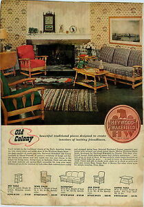 Captivating Image Is Loading 1947 PAPER AD Heywood Wakefield Old Colony Early