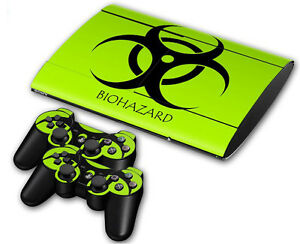 Inventive Ps3 Playstation 3 Super Slim Skin Design Foils Aufkleber Schutzfolie Video Game Accessories Biohazard Meticulous Dyeing Processes