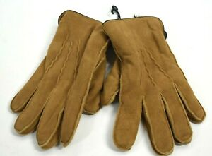Nordstrom Rack Mens Tan Dale Genuine Leather Suede Faux Fur Lined Gloves