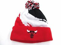 Mitchell And Ness Cuffed Knit Chicago Bulls Red And Black Beanie Retail $26