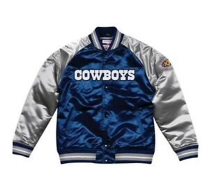 huge selection of 412c7 44117 Details about Authentic Dallas Cowboys Mitchell & Ness NFL Tough Seasons  Satin Jacket