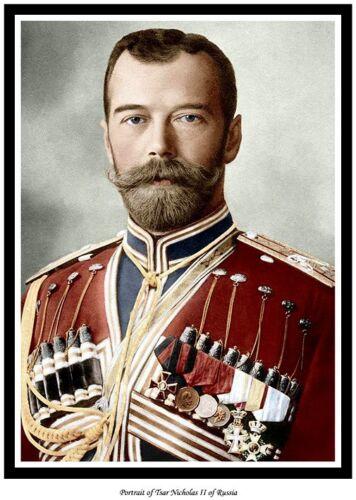 TSAR NICHOLAS II OF RUSSIA PRINT TOO ! ROMANOV NOW AVAILABLE AS CANVAS PRINT