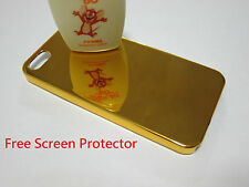 Gold Mirror Hard Back Cover Case + Screen Protector for Apple iPhone 5 5S SE