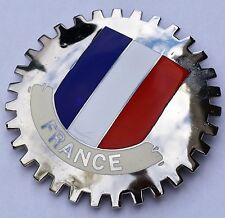 France -  Flag - car grille badge