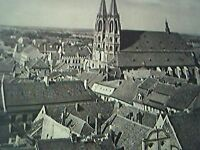 ephemera picture - old undated gorlitz roof top view