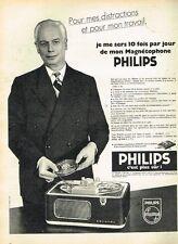 D- Publicité Advertising 1958 Le Magnetophone Philips
