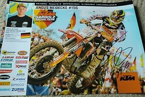 Poster-Motocross-Freestyle-ANGUS-HEIDECKE-156-KTM-ADAC-MX-MASTERS-signiert