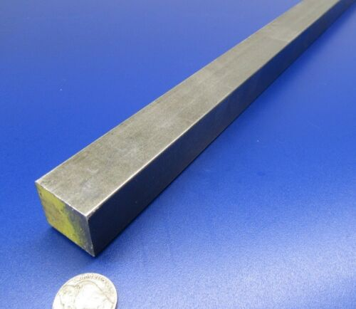"""1/"""" Square x 3 Ft Length 1045 Square Carbon Steel Bars"""