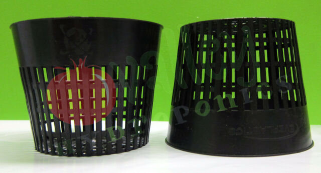 "5"" inch NET POT Mesh Basket Cup Aeroponics Hydroponics Soil C.A.P. Everlastics"