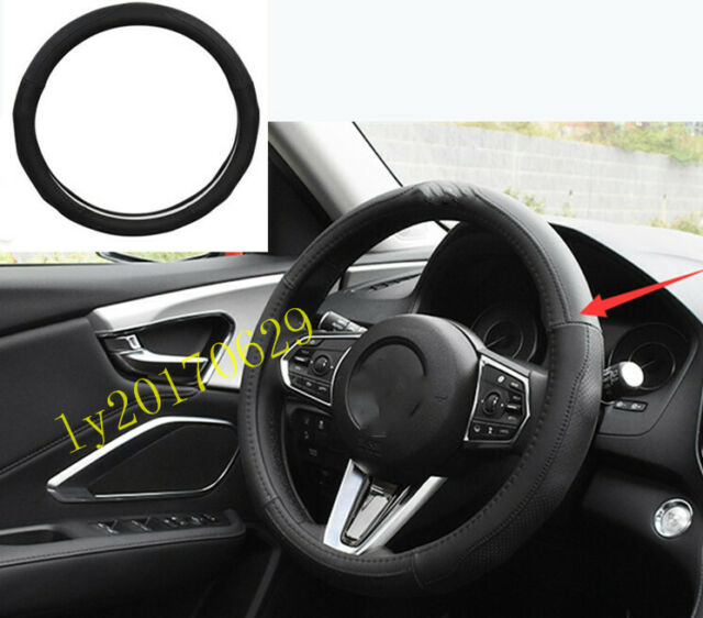 Elastic Leather Steering Wheel Cover Breathable Trim For