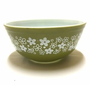 Vintage-Pyrex-2-5qt-Crazy-Daisy-Spring-Blossom-Mixing-Nesting-Bowl-403