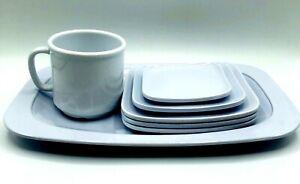 Vintage-Melmac-Diner-Dishes-GET-Melamine-Lot-Of-Lg-Plate-Small-Plates-Mug-7pcs