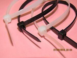 Confezione da 100 Nero FASCETTE LEGACCI da Wraps 300mm x 4.8mm