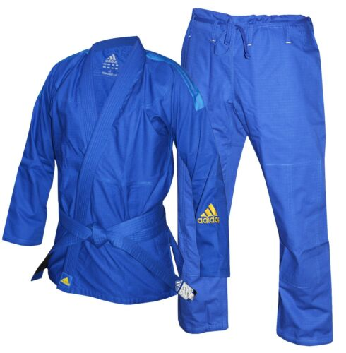 Adidas BJJ Response Uniform Blue Childrens Kids Jiu Jitsu Suit Boys Girls Kimono