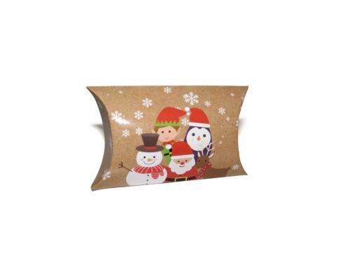 X12 CHRISTMAS ELF SNOWMAN PILLOW GIFT BOXES MINI SMALL FAVOUR JEWELLERY XMAS BOX