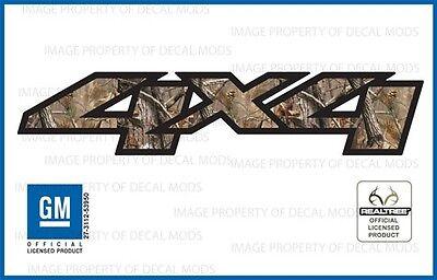 set of 2: 07 <-> 13 Chevy Silverado 4x4 decals Realtree AP Camo GM HD stickers