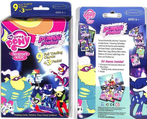 MY LITTLE PONY POWER PONIES SERIES 3 WITH FOILS & 3 PACKS,POSTER & MORE
