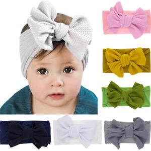 Bow-Knot-Newborn-Headwear-Girl-Turban-Baby-Elastic-Headband-Nylon-Hairband