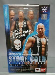 Sh S.h.   Figuarts Stone Cold Steve Austin Bandai Japon Nouveau *** c