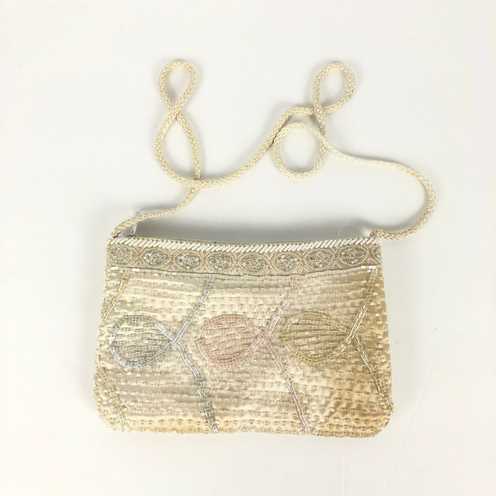 @ Vtg Magid Womens Evening Bag Purse Handbag Shoulder Small Beaded Embelished BC