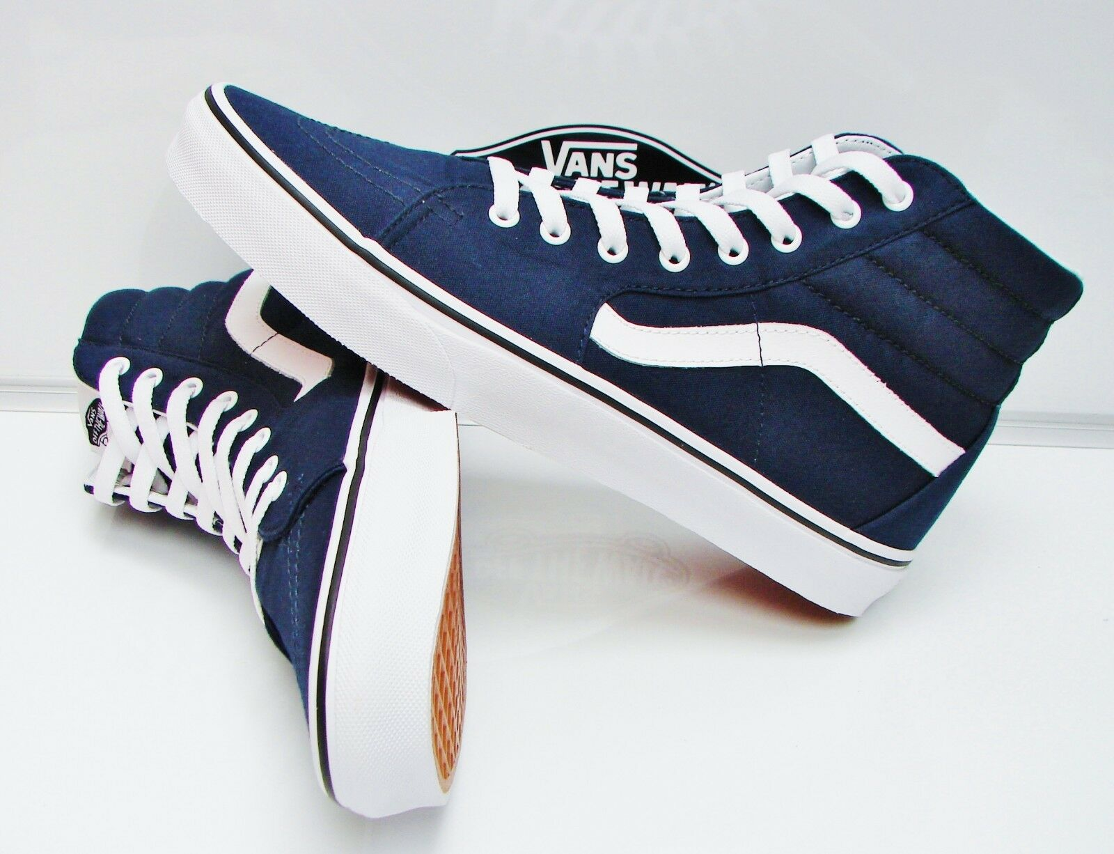 SK8-HI (CANVAS)DRESS blueES TRUE WHITE VN-000TS9KO7 MEN'S SIZE  10