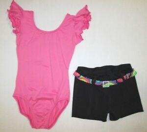 f6153f0d3 New Girls XS 4-5 SC 6-7 MC 8-10 LC 12-14 Leotard Shorts Set Lot ...