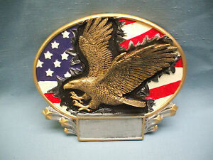 eagle resin plate patriotic trophy award MX2015 american flag