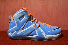 f670b060ede8 item 8 WORN 2X Nike Lebron XII 12 Elite University Blue Black White 724559  488 Size 10 -WORN 2X Nike Lebron XII 12 Elite University Blue Black White  724559 ...