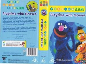 SESAME-STREET-PLAYTIME-WITH-GROVER-ABC-VIDEO-PAL-VHS-MINT-SEALED