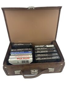 Lot Of 10 Cassette Tapes & Case Country Kenny Rogers Ronnie Milsap Willie Hank
