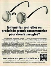 PUBLICITE ADVERTISING 024   1977   ATOL   optique lunettes