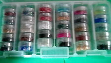 LOT 1 Beads For Crafts Jewelry Making Artisan Supplies Container & 30 Full Vials