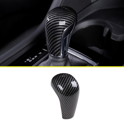 YINSHURE ABS Carbon Fiber Chrome Gear Lever Cover Gear Shift knob Cover,for Mazda 3 M3 Axela 2014-2017