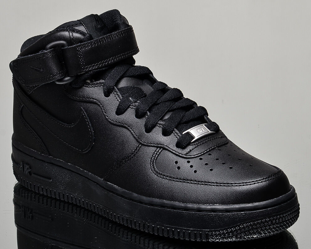 Nike WMNS Air Force 1 Mid 07 women lifestyle sneakers NEW all black 366731-001