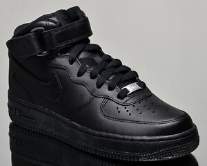 wmns nike air force 1 metà delle donne di scarpe da ginnastica nuove nero.