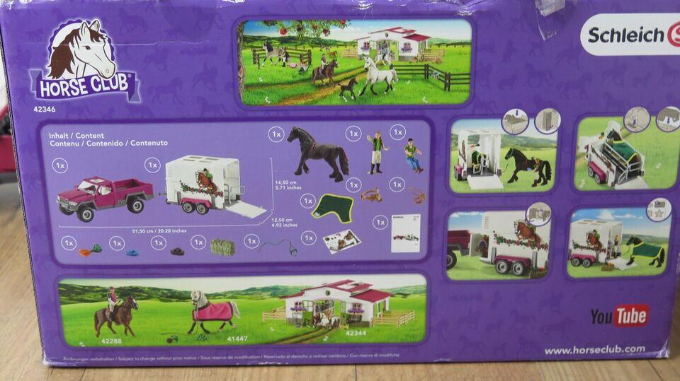 Andet legetøj, Pickup med hesteanhænger Schleich Bil