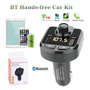 Bluetooth LCD sans Fils Voiture Kit MP3 FM Transmetteur Chargeur USB Mains Libres