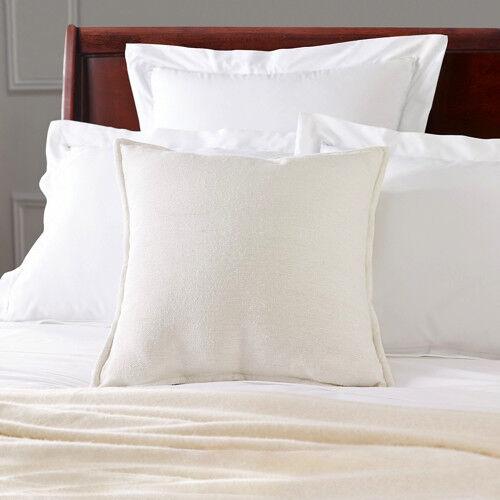 NEW Ralph Lauren Off-blanc Matka Silk Decorative Pillow w Down Insert 20  x 20