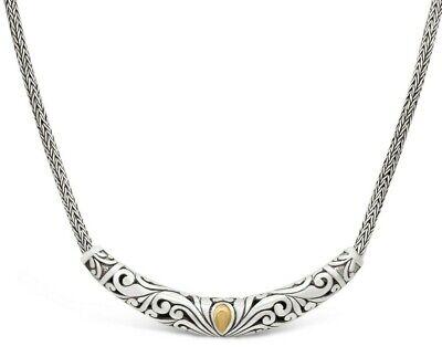 Devata Bali Heritage Classic Sterling Silver 925 Bracelet 18K Gold DVK6715TT