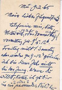Vornehm Paul Stollreither 1886-1973 Maler Autograph Postkarte 1965 An Max Josef Becker