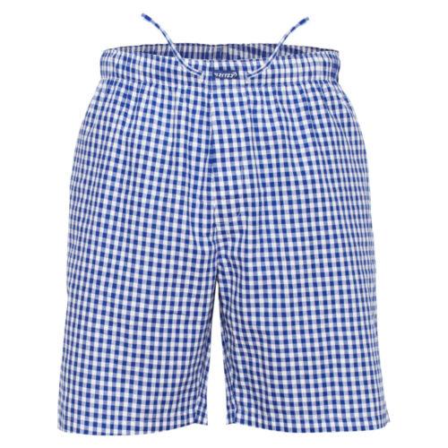 G/&W Checks Ritzy Men/'s Sleep Short Pajama 100/% Cotton Woven Plaid ComfortSoft