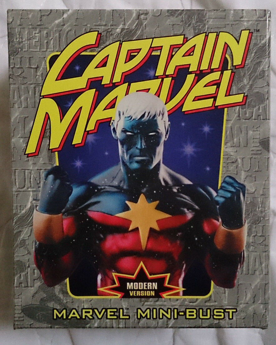 Marvel Comics Bowen Captain Marvel Modern version mini bust statue with box VGC