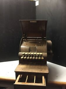 Antique National Cash Register Model 711 Dp As Is Where Is Ebay