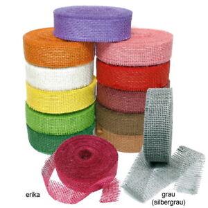 Juteband-farbig-40mm-breit-25-Meter-TOP-PREIS