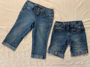 Shorts/Capri-Girls JUSTICE JEANS- Shorts 8R And Capri 7R- Lot Of 2