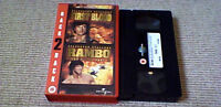 FIRST BLOOD & RAMBO PART II BACK TO BACK UK PAL VHS VIDEO 2002 UNCUT 184m